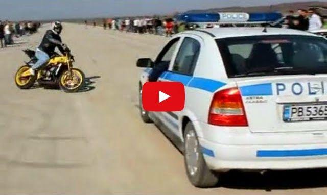 Motero vacila a un coche de policía, mirad que pasa al final | TVEstudio