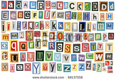 Alphabet Letters To Cut Out | Colorful alphabet made of magazine ...