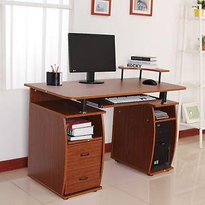 Muebles Para Computadora De Madera.Detalles De Mesa De Ordenador Pc Oficina Despacho Escuela Escritorio
