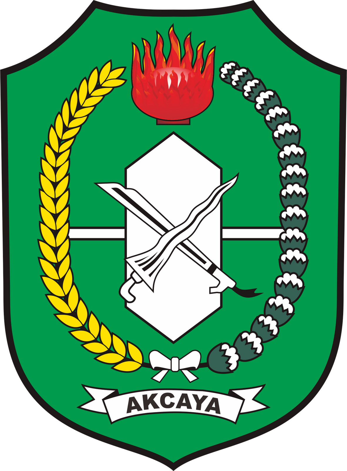 Lambang Kabupaten Batubara Kota Indonesia Abstrak