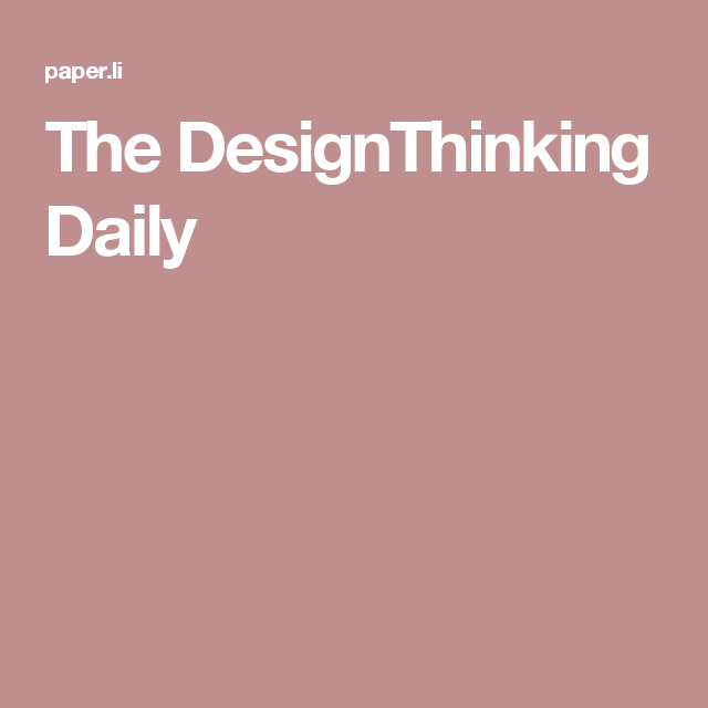 The DesignThinking Daily