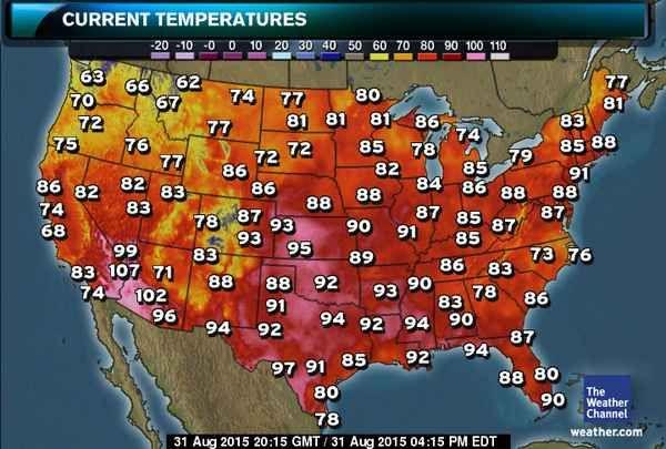 US Current Temperatures Map | dropbox | Pinterest | Cool stuff ...