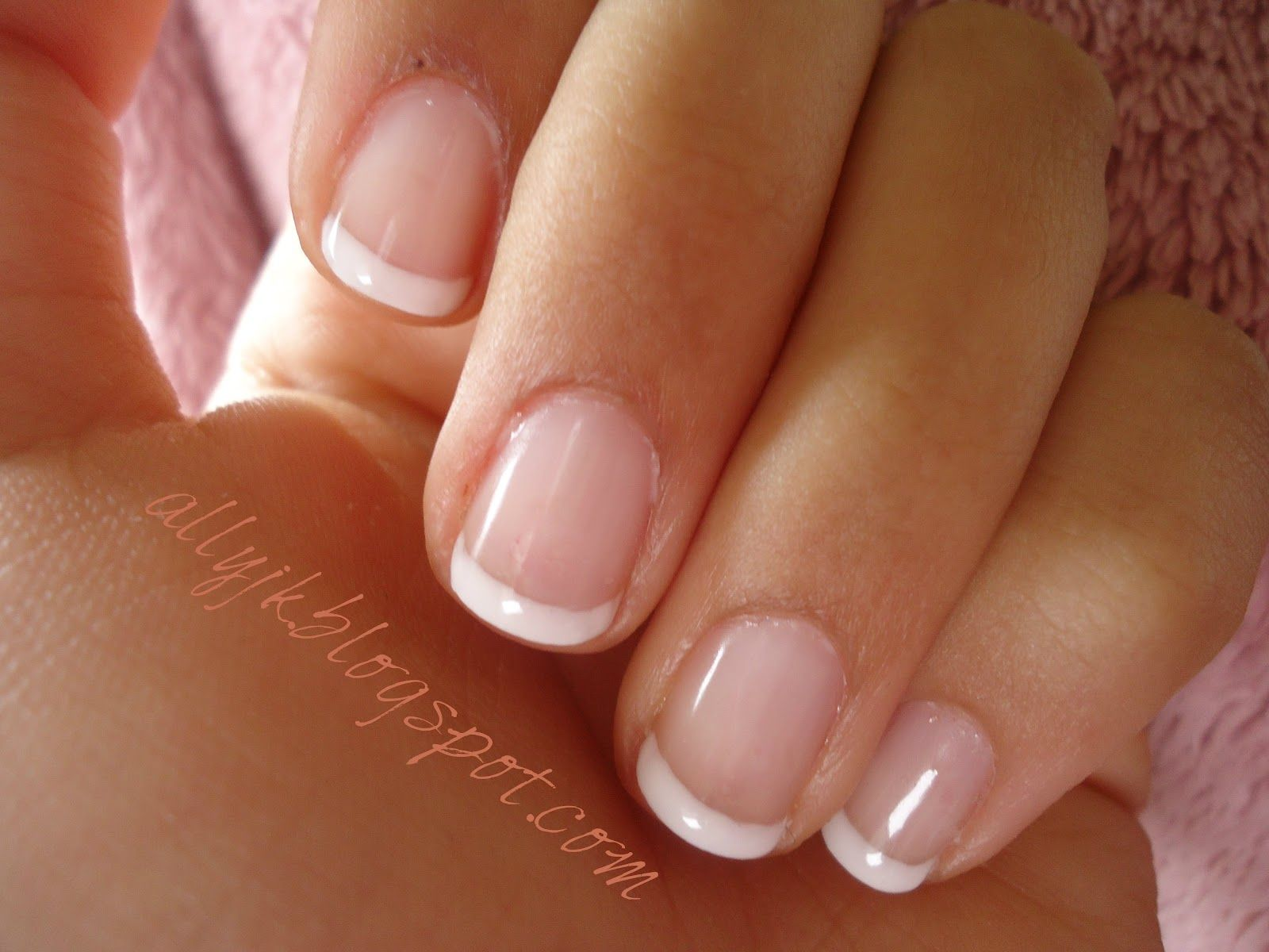 Allys Nails A Basic French Manicure With Gel Nail Polish