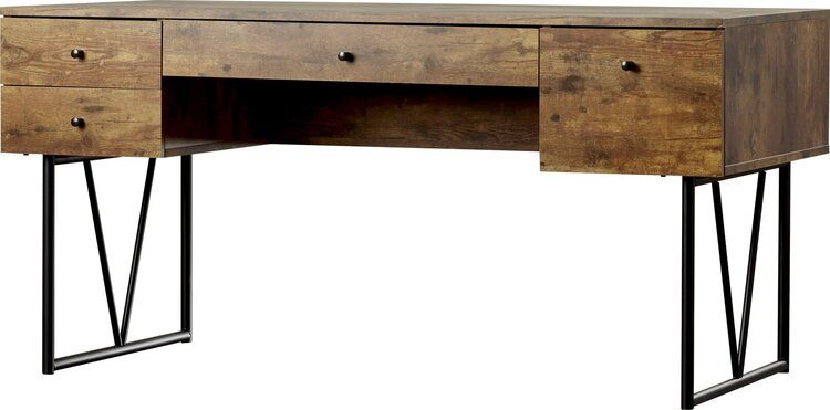 Home Office Designs With Dramatic Masculine Airs Sarahhamm Solid Wood Writing Desk Wood Writing Desk Desk