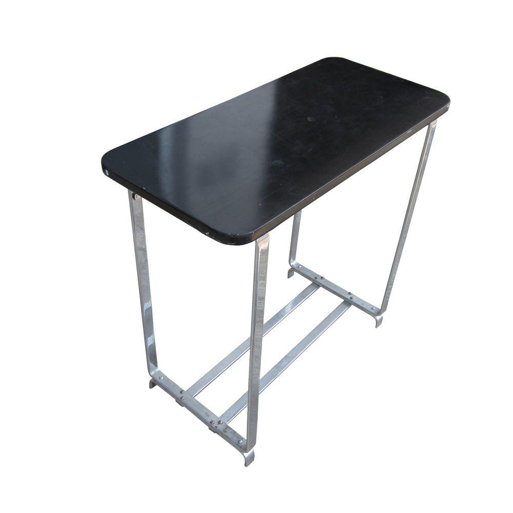 vintage art deco console table with flatbar chrome legs 75 off