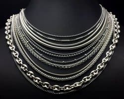 Auténtica plata esterlina 925 Cadenilla