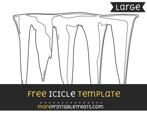 free icicle template large shapes and templates printables
