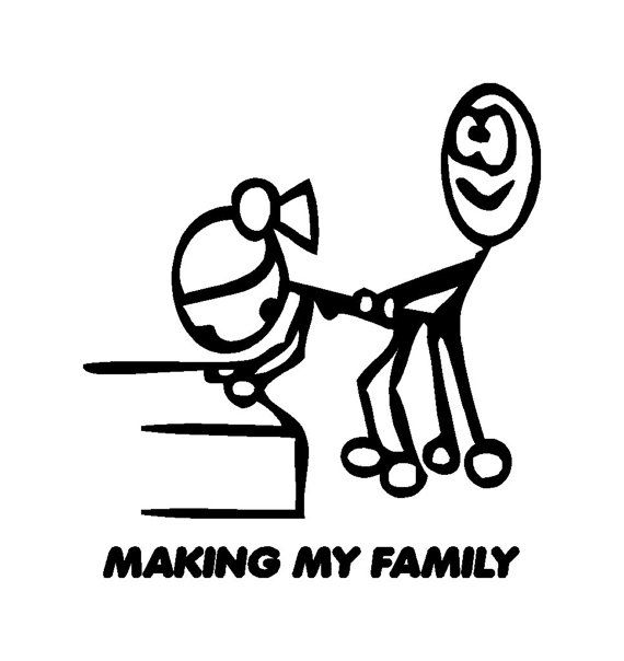 Making My Stick Figure Family Funny Stick Family Car Truck Van SUV - Family decal stickers for carscar truck van vehicle window family figures vinyl decal sticker