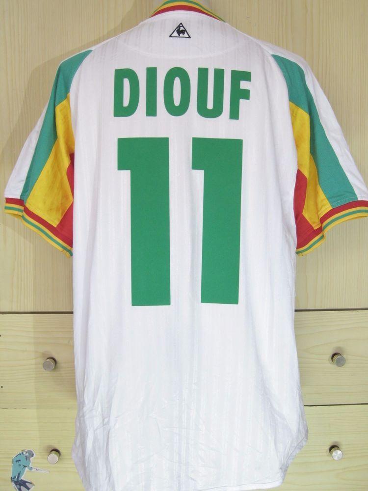e2616cb13 Hadji Diouf Senegal World Cup 2002 Football Player Issue Lecoq Shirt  Vintage L