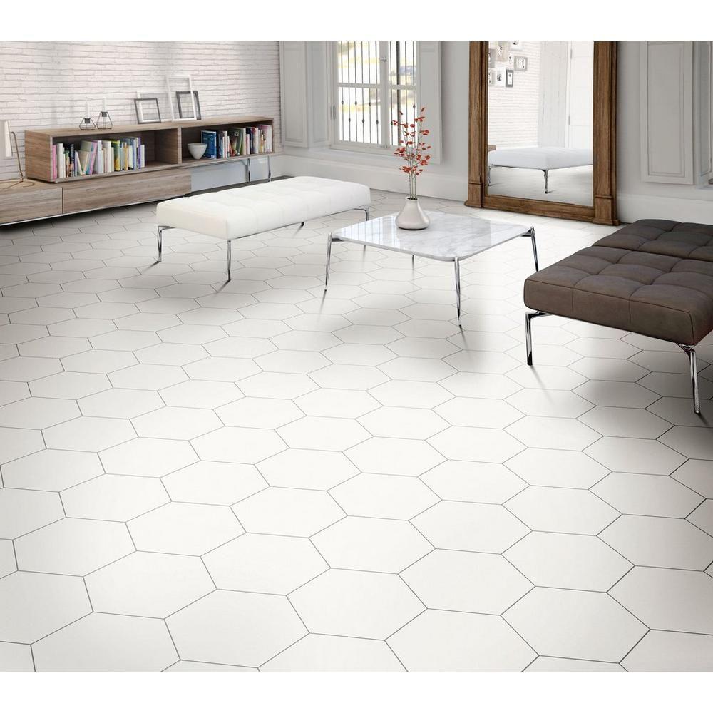 Opal White Hexagon Porcelain Tile White Tile Floor Hexagon Tile Kitchen Floor White Tile Kitchen Floor