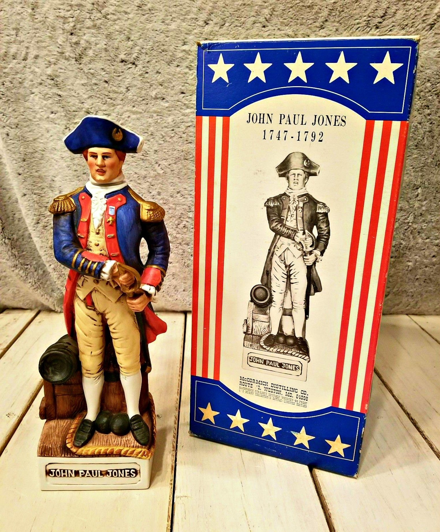 The History Of The Bicentennial Vintage Patriots Series Decanters By Mccormick American Well American Revolutionary War Military Service