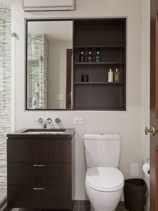 Mirror/med Cabinet Over Both Vanity And Toilet For Great Storage Central  Park West Renovation   Contemporary   Bathroom   New York   Lauren Rubin ... Part 97