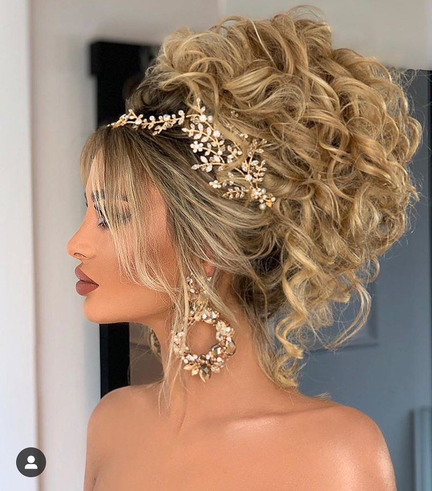 +40 Wedding Hairstyles for 2019 Summer | Natural hair wedding, Long hair updo, Hair styles