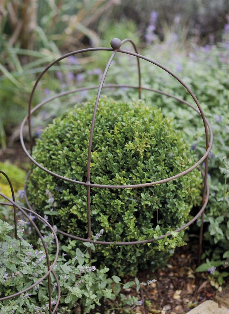 Barrington Domed Plant Support Large   Raw Metal