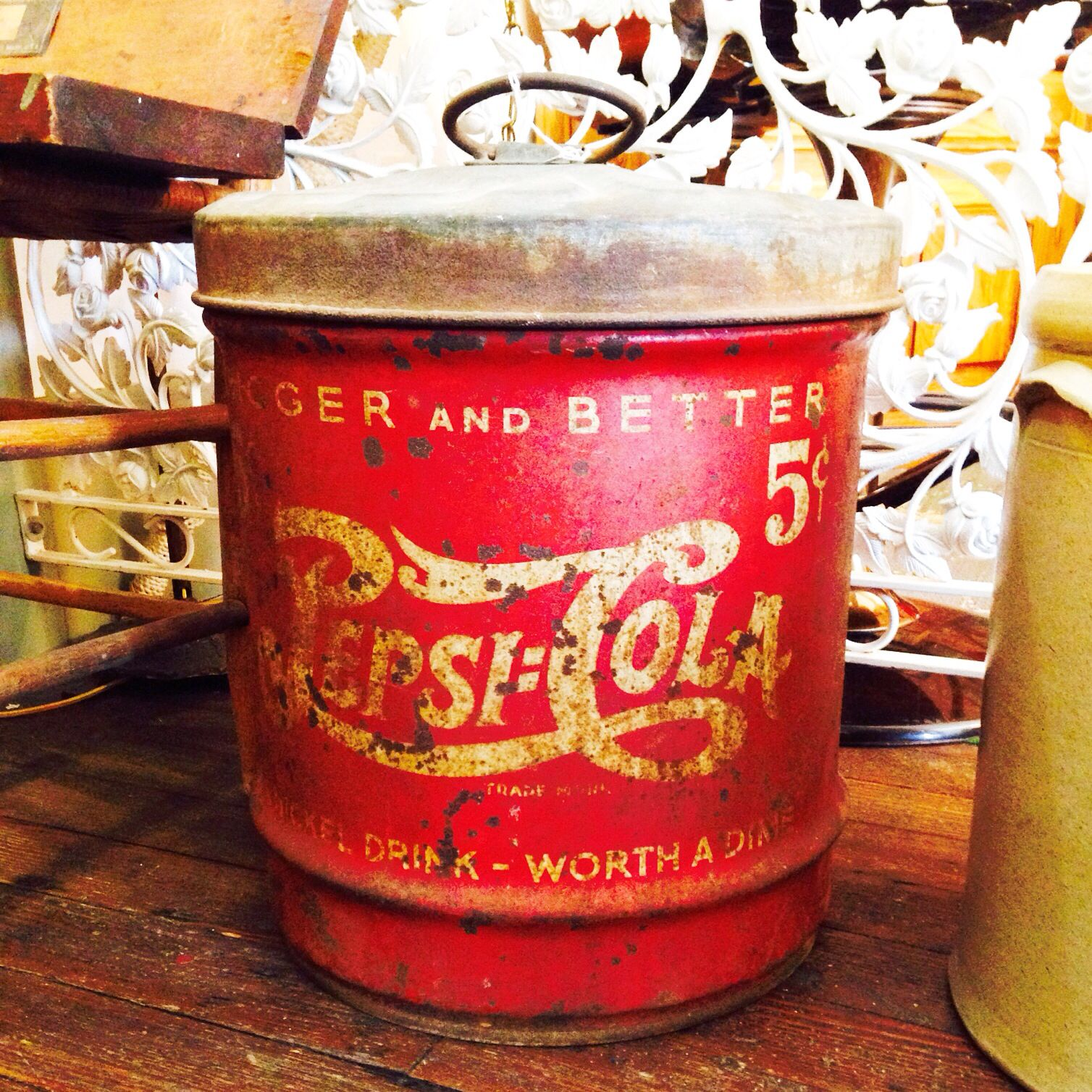 Here Is A Cool Antique Pepsi Cola Cooler
