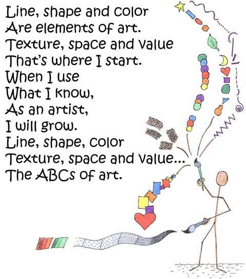 8 Elements Of Art : Art elements poem and principles pinterest