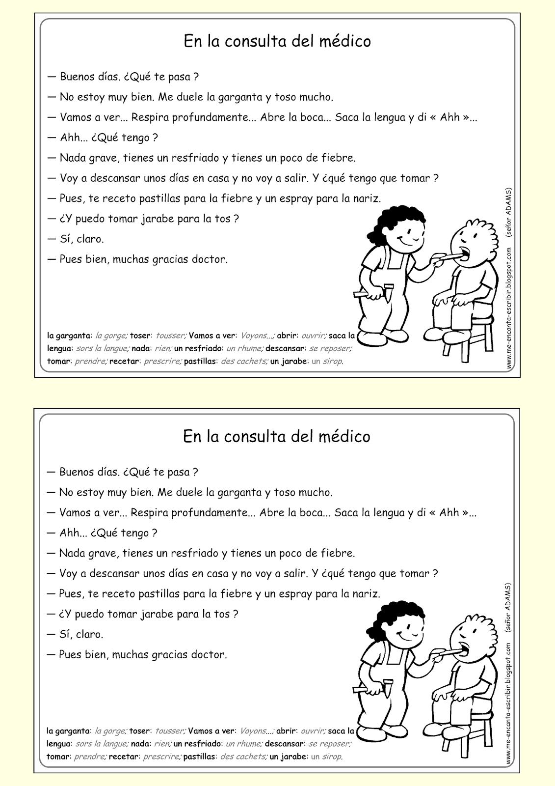 Me Encanta Escribir En Espanol Dialogo En La Consulta