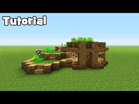 Minecraft Tutorial How To Make A Starter Eco Survival House