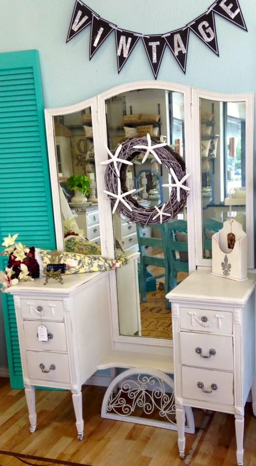 Genial #shabby Chic # Painted Furniture #clearwater, Fl #vintage, #vanity #glamour