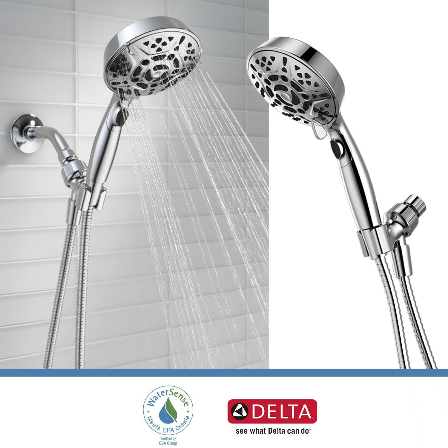 Delta Faucets 75716 7 Spray Head Shower Head Handheld H2okinetic