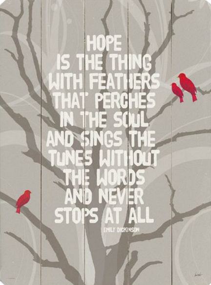 What Is Hope Is The Thing With Feathers About