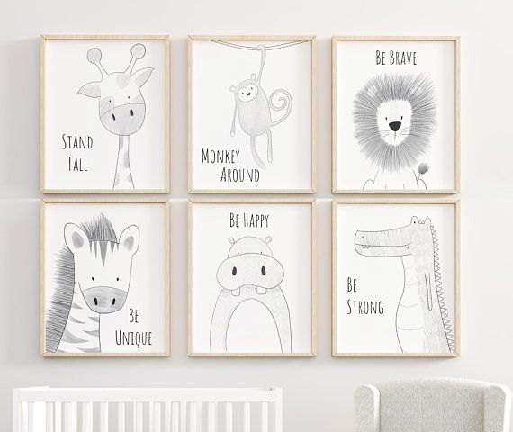 Safari Nursery Set, Animal Nursery Decor, Quote Nursery Print, Peekaboo Nursery, Safari Animal Print, Safari Nursery, Neutral Nursery Prints #dinosaurpics