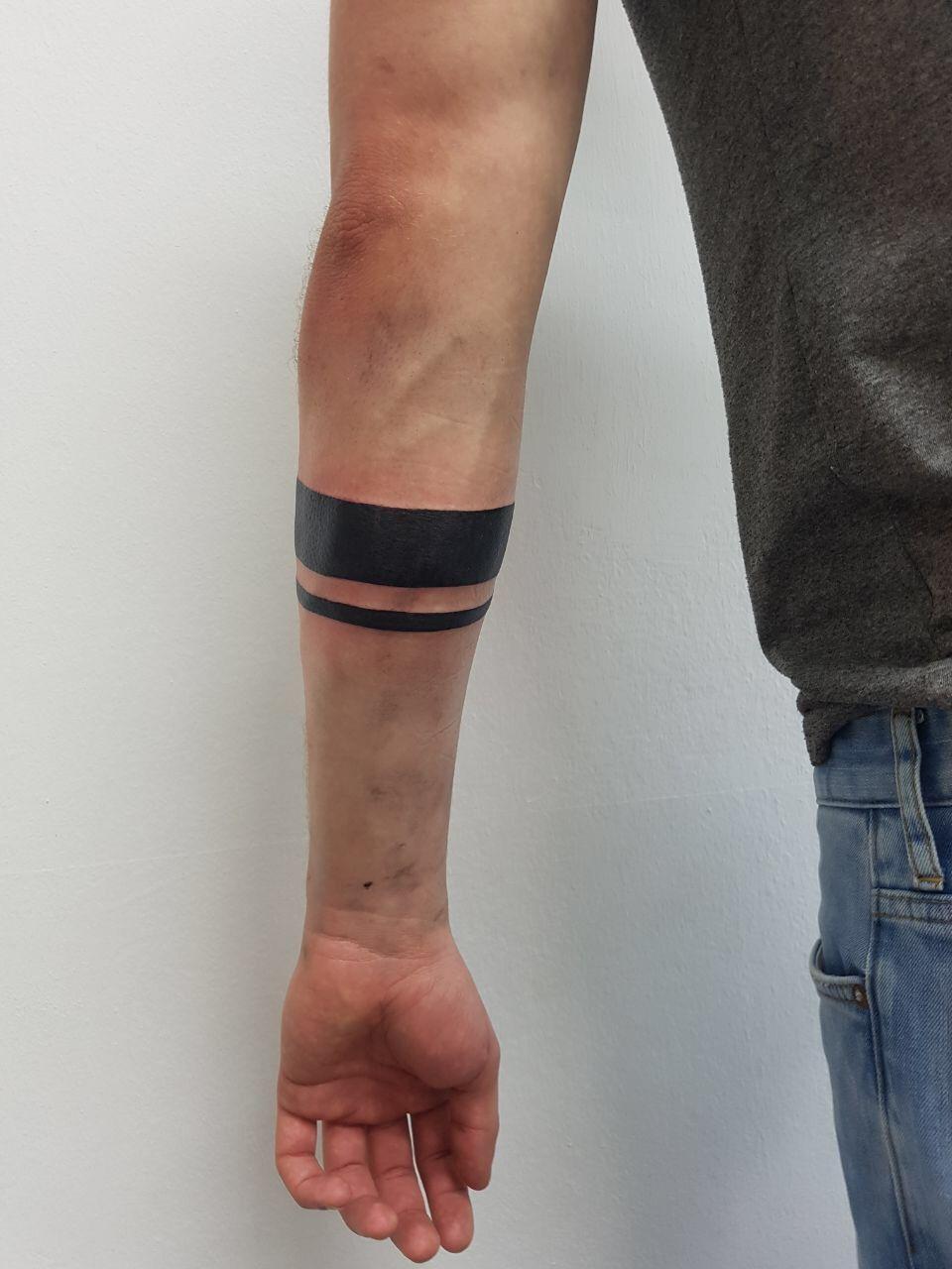 stripes bracelet tattoo on forearm tattoos pinterest. Black Bedroom Furniture Sets. Home Design Ideas