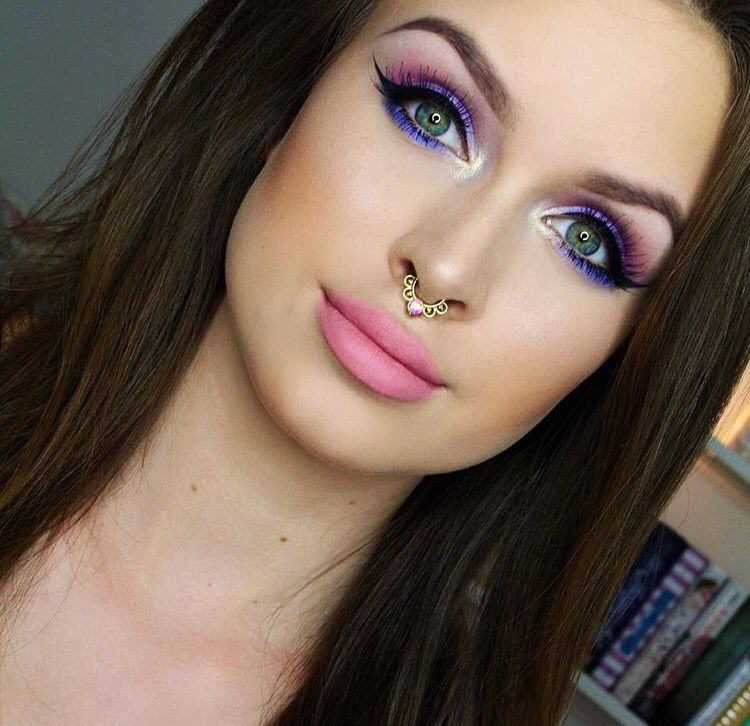 Laura Leth- Pink and purple girly makeup look