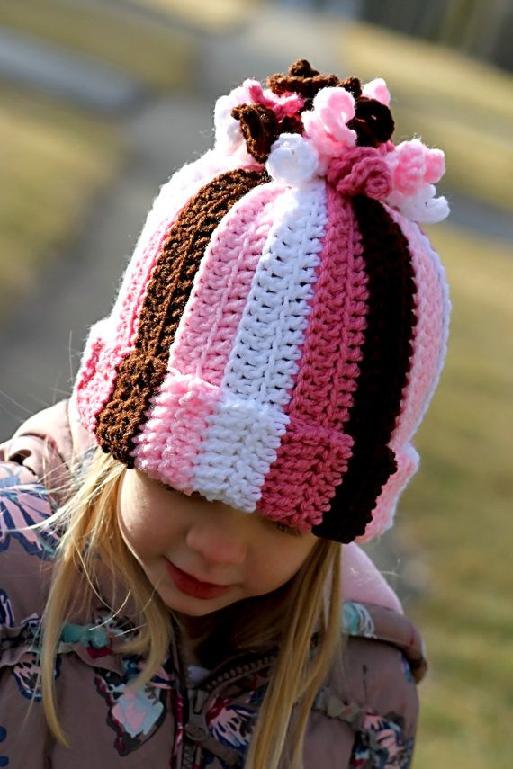 Girl Curly Corkscrew Hat All Sizes Available Crochet