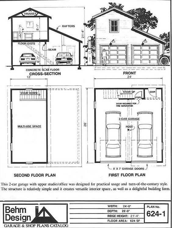 Add Guest Room And Storage On To Garage Garage Plans With Loft Garage Plans Garage Workshop Plans