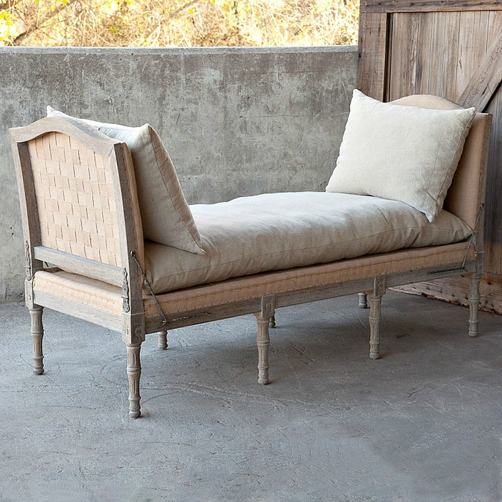 Park Hill Collection French Country Day Bench Castellano Master - French country bench