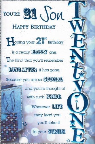 Pin On Happy 21st Birthday Son