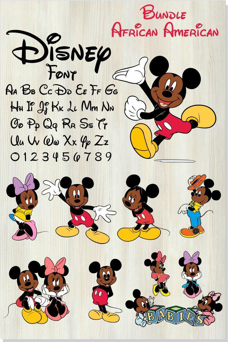 Disney bundle svg African American / Disney font SVG ...