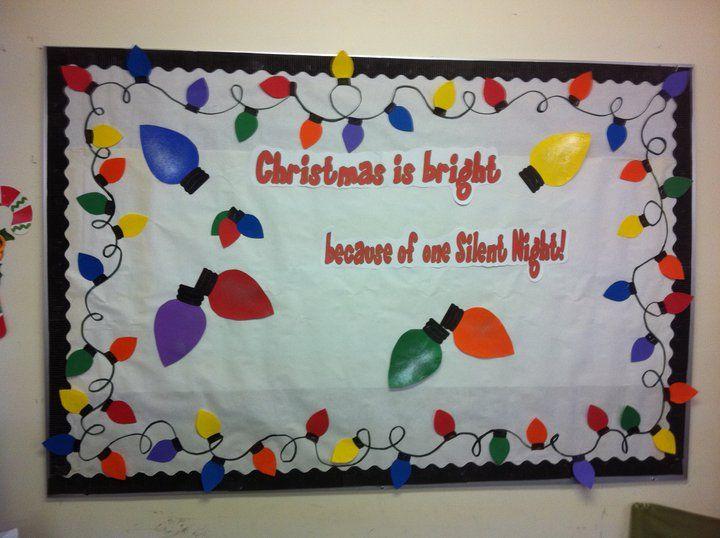 Holiday bulletin board bulletin boards pinterest - Murales decorativos de navidad ...
