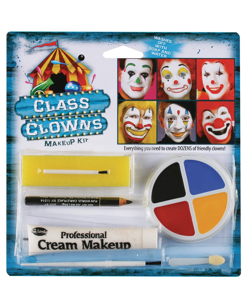 Family Clown Make Up Set Makeup, Makeup kit, Clown makeup