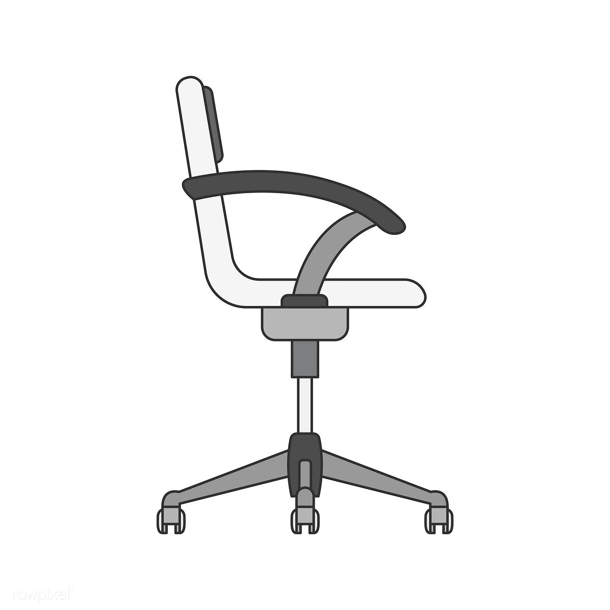 Illustration Of An Office Chair Free Image By Rawpixel Com In 2020 Office Chair Anime Decor My Little Pony Drawing