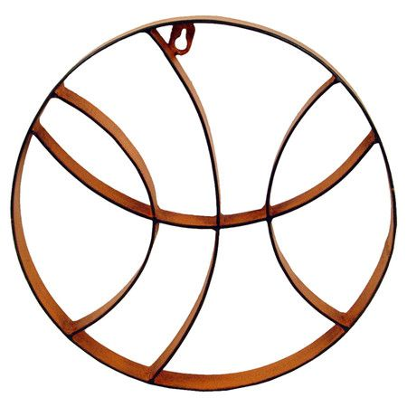Ideal for your game room or den, this basketball-themed metal wall decor spotlights your ...