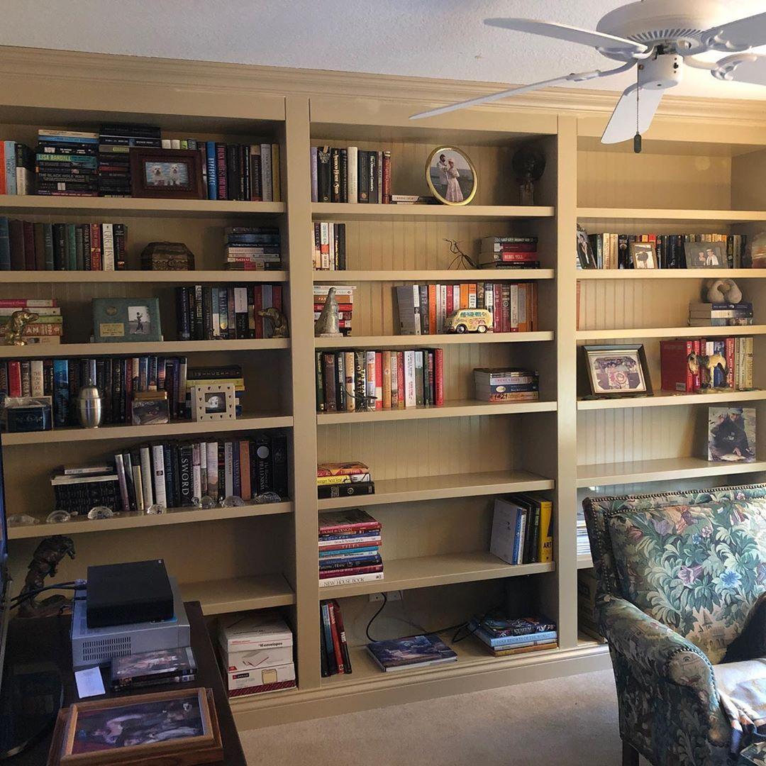 Finished this huge custom bookcase up this week Nothing fancy but still came out great ronnieandrex Finished this huge custom bookcase up this week Nothing fancy but stil...