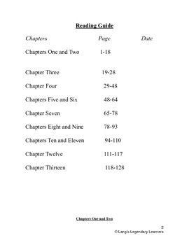 Bridge to terabithia book study guide