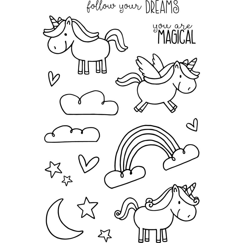 Jane S Doodles Unicorn Clear Stamp Set 742910 Zoom Image Clear Stamps Planner Doodles Doodles