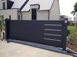 Resultado De Imagem Para Portail Coulissant Contemporain En Fer Modern Front Gate Design House Gate Design Gate Design
