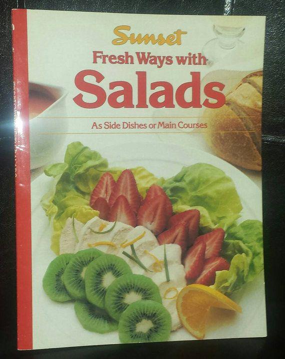 Vintage Sunset cookbook  Fresh Ways with by CozyQuiltsAndMoree