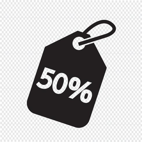 50 Sale Price Tag Icon Symbol Sign Price Tag Design Promotional Design Free Vector Illustration