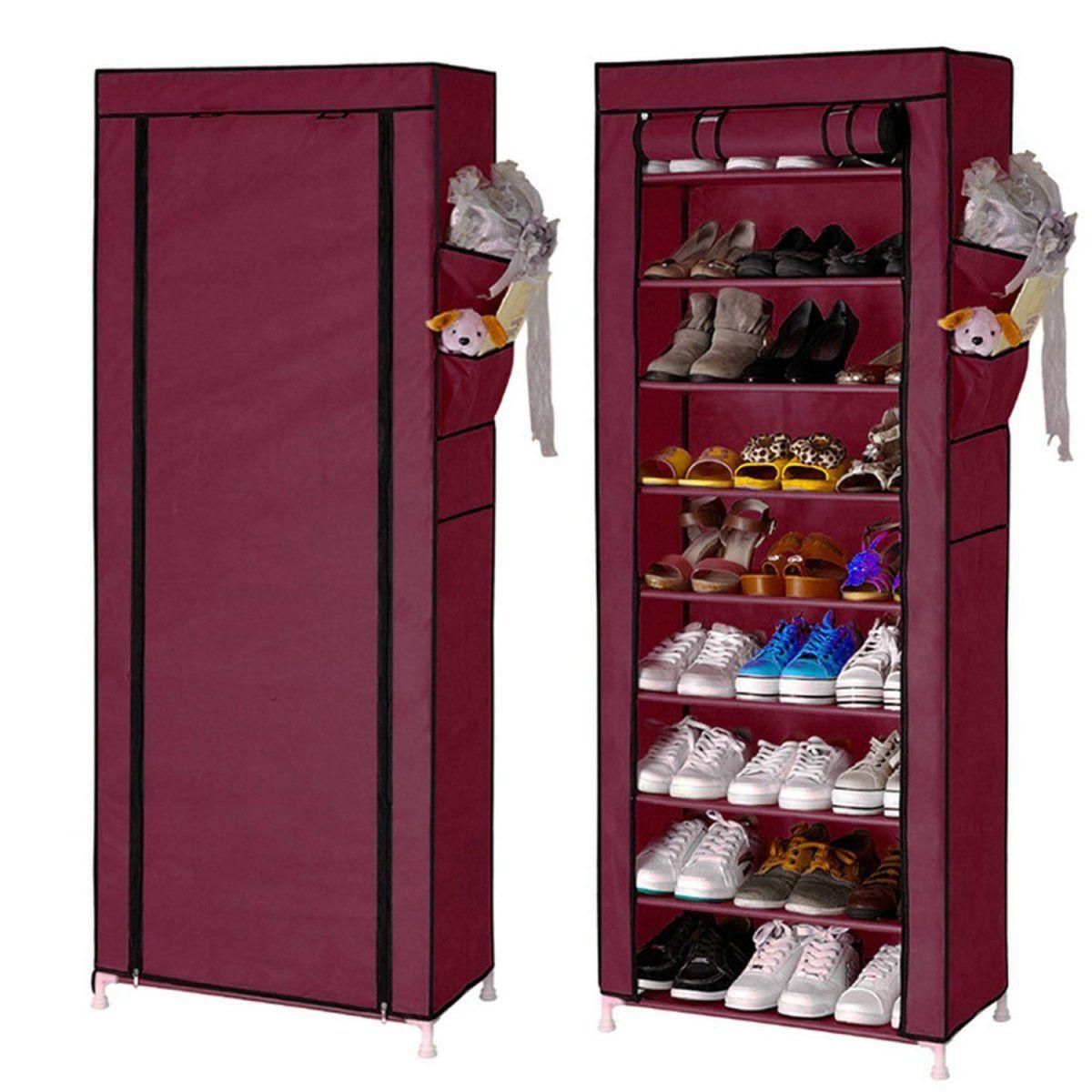 Shoe Rack Closet Portable Shoe Tower Storage Organizer Cabinet $14.37