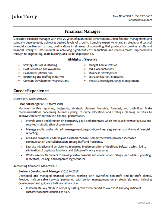 Finance Manager Resume Examples Teaching Resume Good Resume Examples