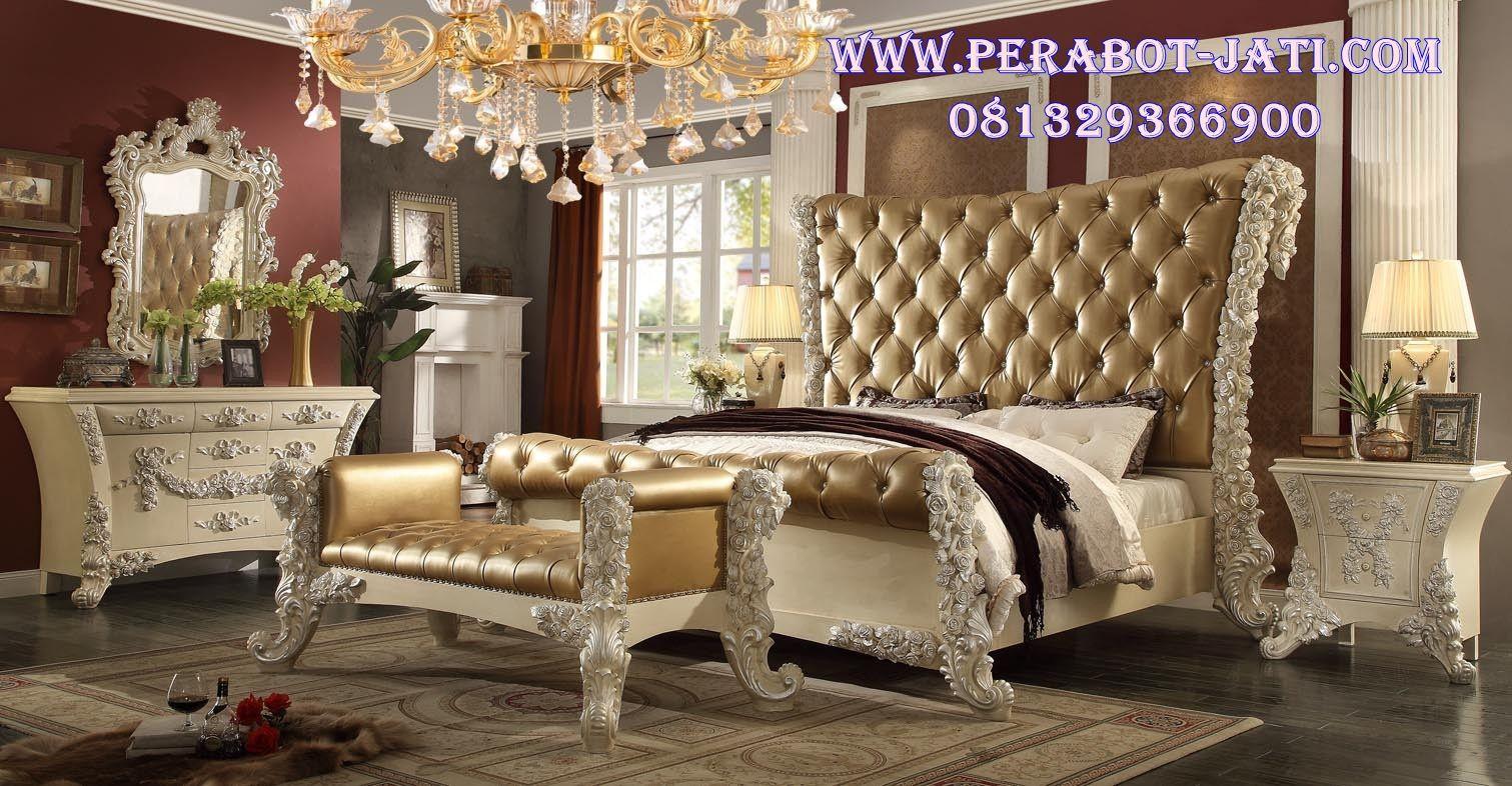 Tempat Tidur Utama Ukir Classic Victoria Luxury, Set Kamar