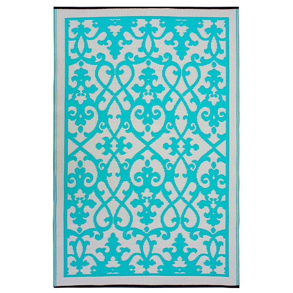 Home Marketplace Fab Habitat Venice Rug Cream And Turquoise 6 X