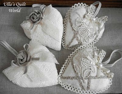 Ulla's Quilt World: Quilted plate, bowl and pattern, hearts