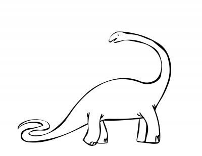 Brontosaurus Coloring Page Coloring Pages Dinosaur Outline