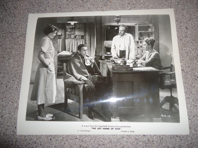 Original 1955 Humphrey Bogart 8x10 Black & White Movie Photo Vintage The Left Hand Of God